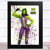 Splatter Art Gaming Fortnite She Hulk Kid's Room Children's Wall Art Print