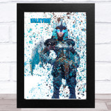 Splatter Art Gaming Fortnite Valkyrie Kid's Room Children's Wall Art Print