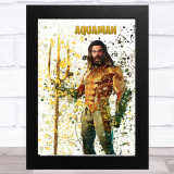 Splatter Art Gaming Fortnite Aquaman Kid's Room Children's Wall Art Print