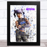 Splatter Art Gaming Fortnite Crystal Kid's Room Children's Wall Art Print