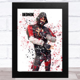 Splatter Art Gaming Fortnite Ikonik Kid's Room Children's Wall Art Print