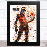 Splatter Art Gaming Fortnite Blaze Kid's Room Children's Wall Art Print
