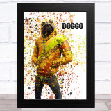 Splatter Art Gaming Fortnite Doggo Kid's Room Children's Wall Art Print