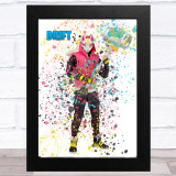 Splatter Art Gaming Fortnite Drift Kid's Room Children's Wall Art Print