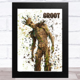 Splatter Art Gaming Fortnite Groot Kid's Room Children's Wall Art Print