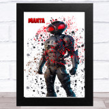 Splatter Art Gaming Fortnite Manta Kid's Room Children's Wall Art Print