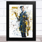 Splatter Art Gaming Fortnite Midas Kid's Room Children's Wall Art Print