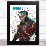 Splatter Art Gaming Fortnite Omega Kid's Room Children's Wall Art Print