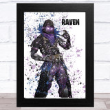 Splatter Art Gaming Fortnite Raven Kid's Room Children's Wall Art Print