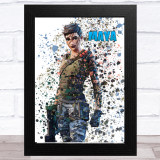 Splatter Art Gaming Fortnite Maya Kid's Room Children's Wall Art Print