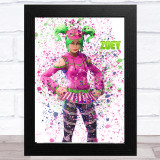 Splatter Art Gaming Fortnite Zoey Kid's Room Children's Wall Art Print
