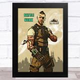 Battle Hawk Gaming Comic Style Kids Fortnite Skin Children's Wall Art Print