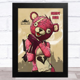 Creepy Bear Gaming Comic Style Kids Fortnite Skin Children's Wall Art Print