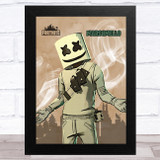 Marshmello Gaming Comic Style Kids Fortnite Skin Children's Wall Art Print