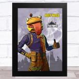 Beef Boss Gaming Comic Style Kids Fortnite Skin Children's Wall Art Print