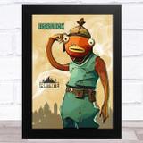Fishstick Gaming Comic Style Kids Fortnite Skin Children's Wall Art Print