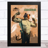 Meowscles Gaming Comic Style Kids Fortnite Skin Children's Wall Art Print
