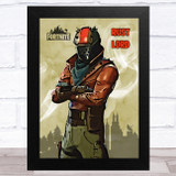 Rust Lord Gaming Comic Style Kids Fortnite Skin Children's Wall Art Print