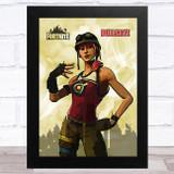 Bullseye Gaming Comic Style Kids Fortnite Skin Children's Wall Art Print