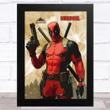 Deadpool Gaming Comic Style Kids Fortnite Skin Children's Wall Art Print