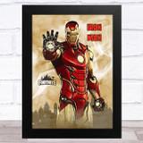Iron Man Gaming Comic Style Kids Fortnite Skin Children's Wall Art Print