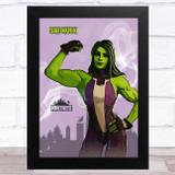 She Hulk Gaming Comic Style Kids Fortnite Skin Children's Wall Art Print