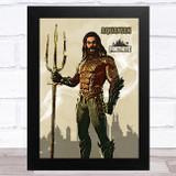 Aquaman Gaming Comic Style Kids Fortnite Skin Children's Wall Art Print