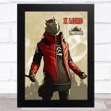 X Lord Gaming Comic Style Kids Fortnite Skin Children's Wall Art Print