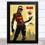 Blaze Gaming Comic Style Kids Fortnite Skin Children's Wall Art Print