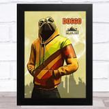 Doggo Gaming Comic Style Kids Fortnite Skin Children's Wall Art Print