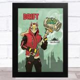 Drift Gaming Comic Style Kids Fortnite Skin Children's Wall Art Print