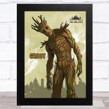 Groot Gaming Comic Style Kids Fortnite Skin Children's Wall Art Print