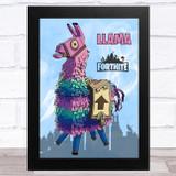 Llama Gaming Comic Style Kids Fortnite Skin Children's Wall Art Print