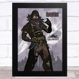 Raven Gaming Comic Style Kids Fortnite Skin Children's Wall Art Print