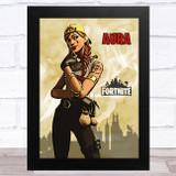 Aura Gaming Comic Style Kids Fortnite Skin Children's Wall Art Print