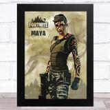 Maya Gaming Comic Style Kids Fortnite Skin Children's Wall Art Print