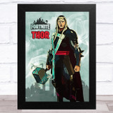 Thor Gaming Comic Style Kids Fortnite Skin Children's Wall Art Print