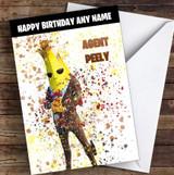 Splatter Art Gaming Fortnite Agent Peely Kid's Children's Personalised Birthday Card