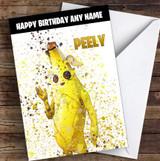 Splatter Art Gaming Fortnite Peely Kid's Children's Personalised Birthday Card