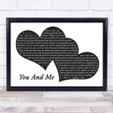 Dave Matthews Band You And Me Landscape Black & White Two Hearts Song Lyric Music Art Print