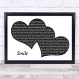 Uncle Kracker Smile Landscape Black & White Two Hearts Song Lyric Music Art Print