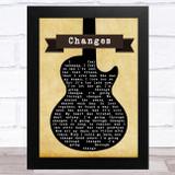 Black Sabbath Changes Black Guitar Song Lyric Music Art Print