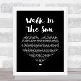McFly Walk In The Sun Black Heart Song Lyric Music Art Print
