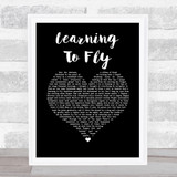 Pink Floyd Learning To Fly Black Heart Song Lyric Music Art Print