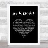 Thomas Rhett Be A Light Black Heart Song Lyric Music Art Print