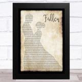 Lauren Wood Fallen Man Lady Dancing Song Lyric Music Art Print