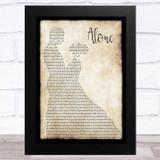 Jessie Ware Alone Man Lady Dancing Song Lyric Music Art Print