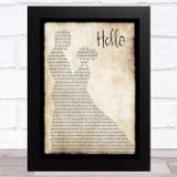Lionel Richie Hello Man Lady Dancing Song Lyric Music Art Print