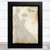 Russell Dickerson Yours Man Lady Dancing Song Lyric Music Art Print