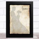 The Dubliners Grace Man Lady Dancing Song Lyric Music Art Print